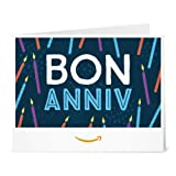 Chèque-cadeau Amazon.fr - Imprimer - Bougies d'anniversaire