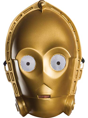 Rubie's Costume Unisex-Adult's Standard Star Wars Classic Ben Cooper C-3PO Mask, as Shown, One Size
