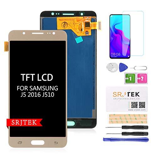SRJTEK Pantalla LCD TFT de Repuesto para Samsung Galaxy J5 2016 J510 J510F J510F/DS J510G/DS 5.2