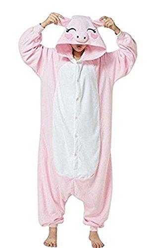 Karneval Halloween Pyjamas Einhorn Onesie Tier Cosplay Kostüm Schlafanzug mit Kapuze Erwachsene Jumpsuit