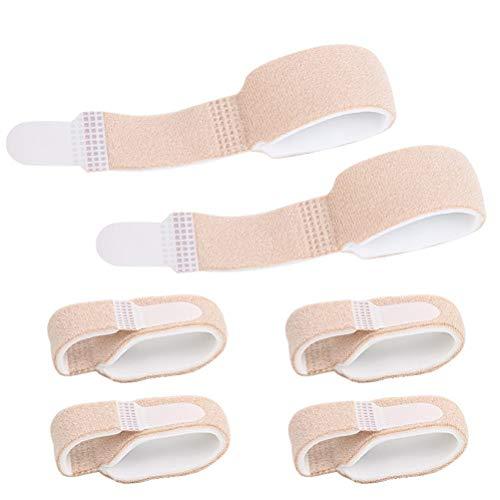 Supvox 6 Stücke Zehenbandage Zehenschutz Fingerschiene Hammerzehen Zeh Schiene Bandage für Finger Hammer Toe
