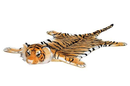 infactory Tigerteppich: Kuschliger Webpelz-Vorleger Königstiger, 170 cm (Tigerfell)