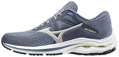 Mizuno Men's Wave Inspire 17 Running Shoe, Folkstone Gray, 12