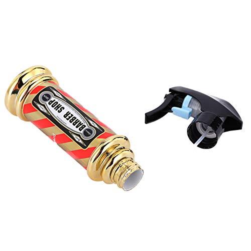 SOLUSTRE Botellas de Spray de Plástico con Rociadores Botella de Spray de Plástico Vacía Botella de Rociador de Aceite Botella de Rociador de Agua para Peluquería Barbería (Dorado)