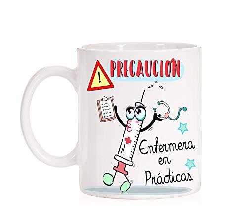 MardeTé Taza Precaución Enfermera en Prácticas Taza Regalo Divertida para Enfermeras