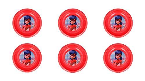 2620; pak 6 herbruikbare kommen Lady bug; Ideaal voor feesten en verjaardagen; plastic product; BPA vrij; diameter 16,7 cm, hoogte 3 cm