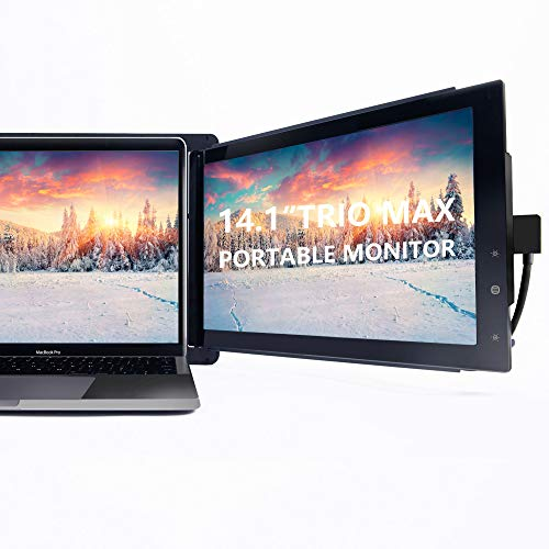 Trio Max Portable Monitor for Laptop, 14.1' Full HD IPS Display, Dual or Triple Laptop Monitor...
