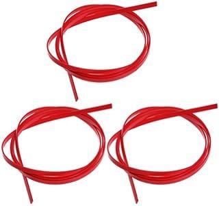 3pcs Red ABS 5 Feet Guitar Binding Purfling Strip 1650 x 6 x 1.5mm
