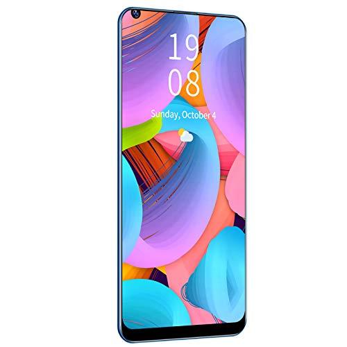 Jacksing Smartphone, Pantalla Ultra Grande X66 2 + 16GB Smartphone Desbloqueado Pro + Pantalla de 6.72in Dual SIM con cámara de Alta definición para Viajes(Blue)