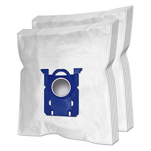 10 Premium Sacs d'aspirateur pour AEG GR 201 M, Original s-Bag Classic Long Performance, Philips FC8022/04, Philips FC8371/09 Performer Compact