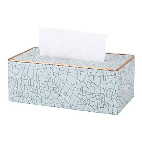 GORESE - Funda rectangular de piel para caja de pañuelos
