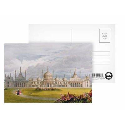 Brighton Royal Pavilion, 19th century (w/c.. - Postkarten (8er-Packung) - 15,2x10,2 cm - Beste Qualität - Standardgröße