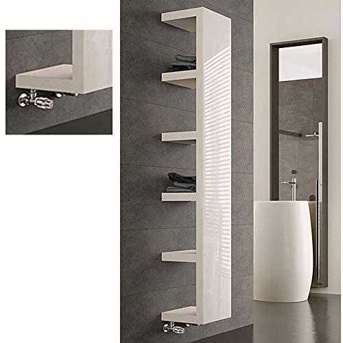 BEMM Collection IRSAP Quadraqua - 1828 mm x 300 mm x 300 mm - Weißperlmetallic Nr. 16 Designer Heizkörper