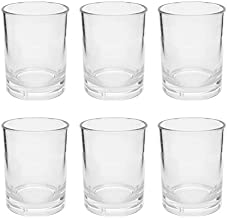 First Design Global Clear Acrylic DOF Glasses, Decorative Drinkware for Weddings, Birthday Parties, and Everyday Use, 14 oz, Set of 6