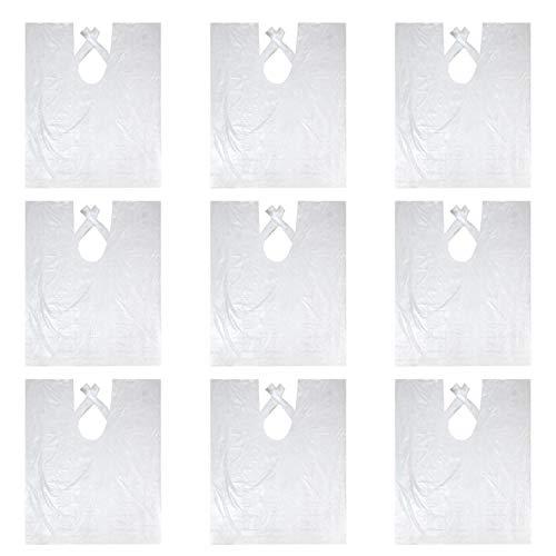 Vococal - 100 x Plástico Impermeable Desechable Capa de Hombro de Peluquería/Capas de Corte Peluqueria (Tamaño: 60 x 90cm)