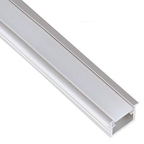 LED Profil Aluprofil Leiste für LED Stripes B: Unterputz satiniert 2m mit Endkappen