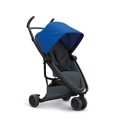 Quinny Zapp Flex Stylischer Komfort-Drei Räder Buggy, mit vielen Extras, leicht, kompakt faltbar, ab der Geburt nutzbar, blue on graphite