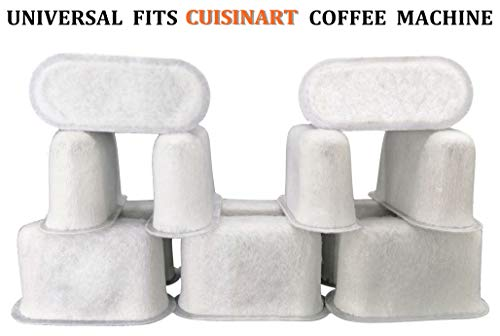Cuisinart Compatible Replacement Charcoal Water Filters for Coffee Makers - Fits all Cuisinart Coffee Makers-12 Pack