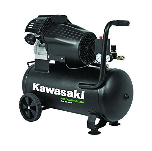 Kawasaki Kompressor, Luftkompressor Werkstatt, fahrbar, 2200W, 8Bar, Induktionsmotor, 50L Tank, Ansaugleistung 356 l/min