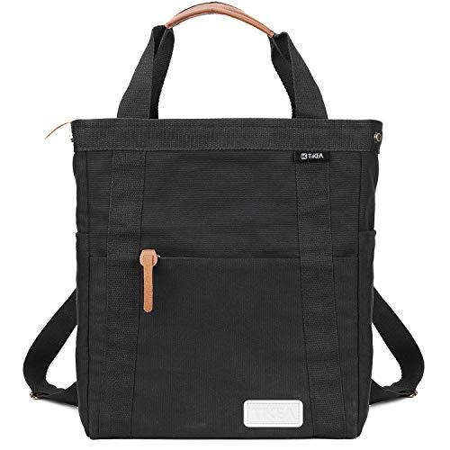 Tikea Canvas Backpack - School Laptop Bag Fashion Casual Daypack, Large Travel Rucksack for Men Women