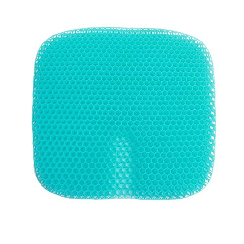 Seat Cushion Chair Cushion Gel Air Cushion Breathable Cold and Decompression Work and Home Multifunctional Practical Air Cushion Washable Lid (Color : Blue, Size : 47X43X3.5CM)