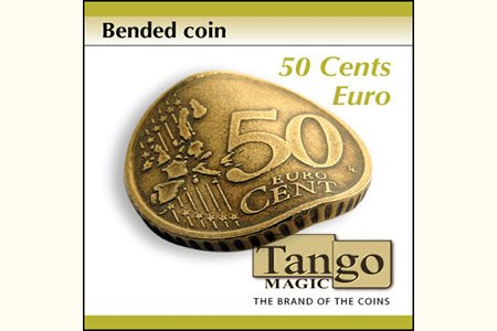 Bended Coin (50 cents Euro w/DVD)(E0075) by Tango - Trick (E0075)