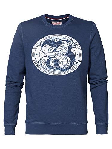 Petrol Industries Herren Sweatshirt M-1000-SWR308, Farbe:Blau (Petrol Blue 5082), Größe:XXL