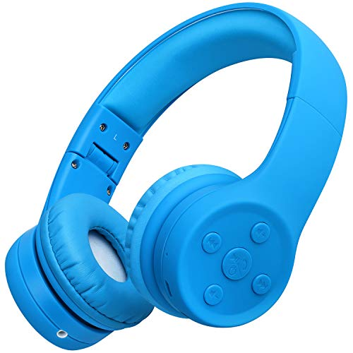 Picun Kids Bluetooth Headphones Safe Volume Limited 85dB 15 Hours Play Time Foldable Stereo Sound Headsets