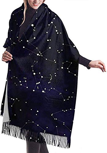 Irener Wickeldecke Schal, Northern Hemisphere Constellations Women Soft Cashmere Scarf Large Pashminas Shawl Wrap Shawl 77