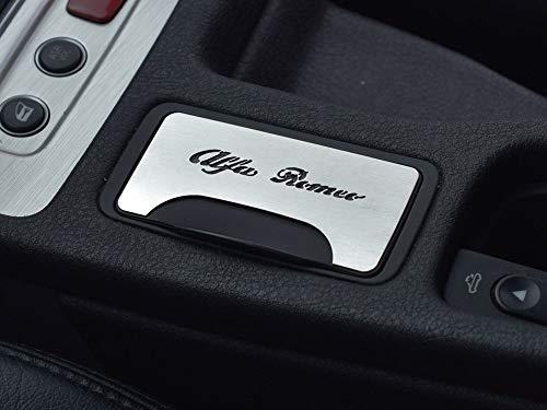 Cubierta De Acero para Alfa_Romeo 159 & BRERA & SPIDER (939) - 1 Pieza Placa con Inscripción Inox Metal Cepillado Interior Decoración Personalizados Hechos a Medida Tuning