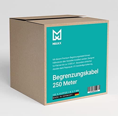 määx® - Begrenzungskabel für Mähroboter   Begrenzungsdraht für Rasenmäher I 100{82a3c7278c6921c0d6c2932ab8ab0c32eececc0013f606bc3b7807aa19a30597} Kupfer Draht I 2,7 mm I Rasenroboter Zubehör   Hergestellt in Deutschland   250m