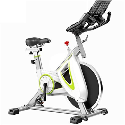 SAFGH Indoor Fitness Spinning Bike Aerobic Indoor Training Fitness Bike Aeróbico Familia Bicicleta Carrera Aerobic Trainer Keep Moving (Color: Blanco, Tamaño: 113x56x109cm)