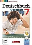 Deutschbuch 7. Schuljahr. Gymnasium Hessen. Arbeitsheft mit Lösungen und Übungs-CD-ROM