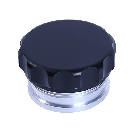 HiwowSport 2inches Billet Aluminium Alloy Fuel Cap Weld On Filler Neck And Oil Tank Cap Black Color