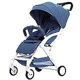 WDCC Cochecito de bebé Reversible Todo Terreno - City Select Cochecitos para bebés y niños pequeños Cochecito con Cubierta de Red (Color: Azul)