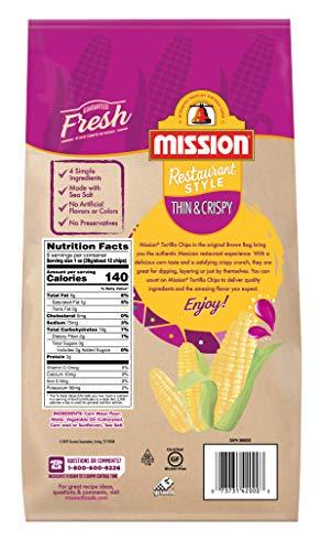 Mission Thin & Crispy Tortilla Chips | Gluten Free | Restaurant Style Corn Tortilla Chips | 9 oz