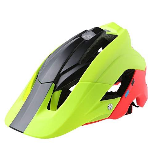 BeiQuan Casco de la Bici, Ligero Microshell Diseño, tamaños for Adultos, jóvenes y niños (Color : Green)