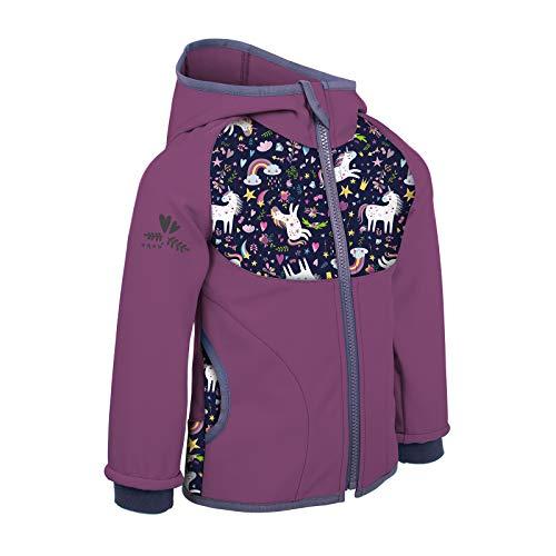 unuo Softshell Jacke mit Fleece Innenfutter Wasserabweisend und Winddichte Outdoor Full-Zip Funktionsjacke Atmungsaktive Freizeitjacke für Kinder