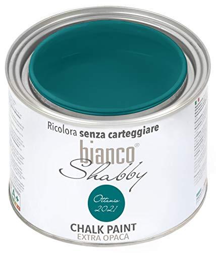 Chalk Paint Ottanio (2021) Pintura Shabby Chic Vintage para muebles y paredes extra mate (500 ml)