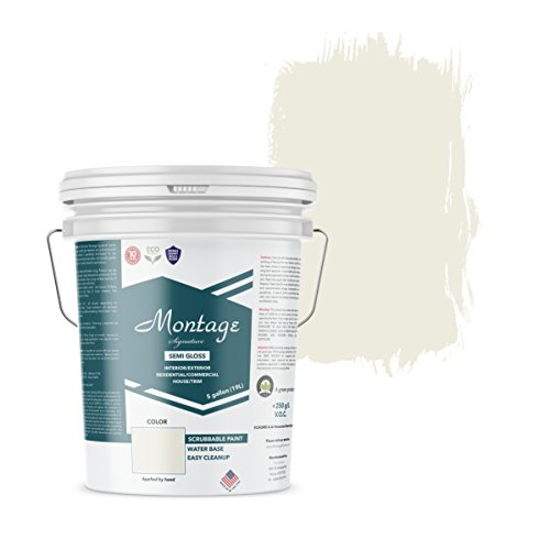 Montage Signature Interior/Exterior Eco-Friendly Paint, Swiss Coffee - Semi-Gloss, 5 Gallon