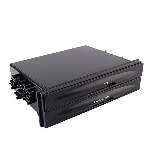 Radio de coche Caja de almacenamiento-Auto universal Auto Din Radio Pocket Bebida Portavasos + Caja de almacenamiento