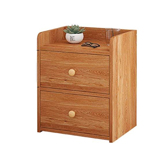 Mesa de Noche Estante Simple y Moderno Mini Easy Easy Nordic Sold Wood Dormitorio Pequeño gabinete pequeño con Almacenamiento en la Cama