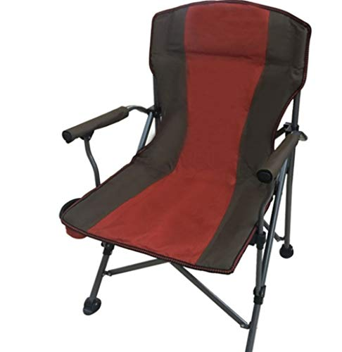 Chaise de camp pliante à dossier haut, 400 livres de poids Capaci Incidence faite de cadre en acier durable, chaises longues de patio de pelouse de jardin de support de tasse de tissu (Color : A)