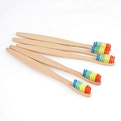 FidgetGear 20/100Pc Natural Bamboo Toothbrush Environmentally Friendly Eco Medium Oral Care Multi-Color 50Pcs One Size
