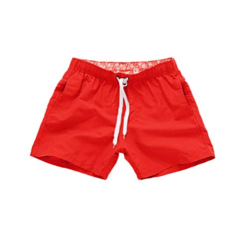 YIJIAJIA Men's Swim Trunks Quick Dry Swimwear Workout Bathing Suits with Pockets Solid Color Board Shorts Loose Beach Pant