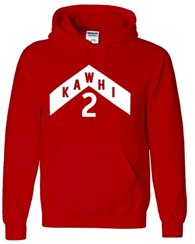 RED Toronto Kawhi The North Jersey Logo Hooded Sweatshirt Adult