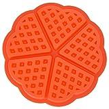Molde para gofres Nestlé de silicona de 4/5 cavidades, molde para hornear para el desayuno, molde para hornear y muffins(Round)