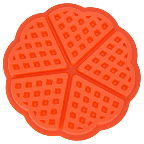 Molde de silicona para gofres de silicona de 4/5 cavidad-adecuado para hornear en casa (en forma de corazón)