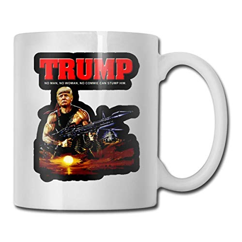 Donald Trump Trump As Rambo Personalized White Coffee Mug Tea Cup Gifts T Mothers Day Gifts, Father's Day Gifts, Christmas Gifts, Grandma Grandpa Gifts