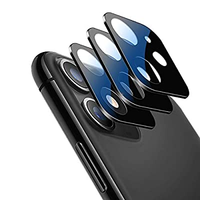 [3 Pack] OUNIER Camera Lens Protector for iPhone 11 Camera Films Metal Frame 9H Tempered Glass Protection Easy Install High Definition Anti-Scratch Compatible with Apple iPhone 11 Camera Film(6.1'')